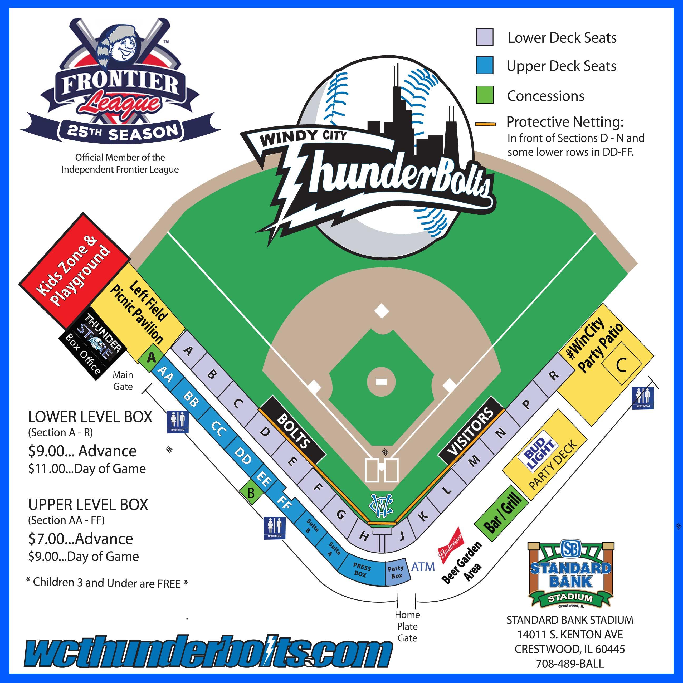 stadium seating chart