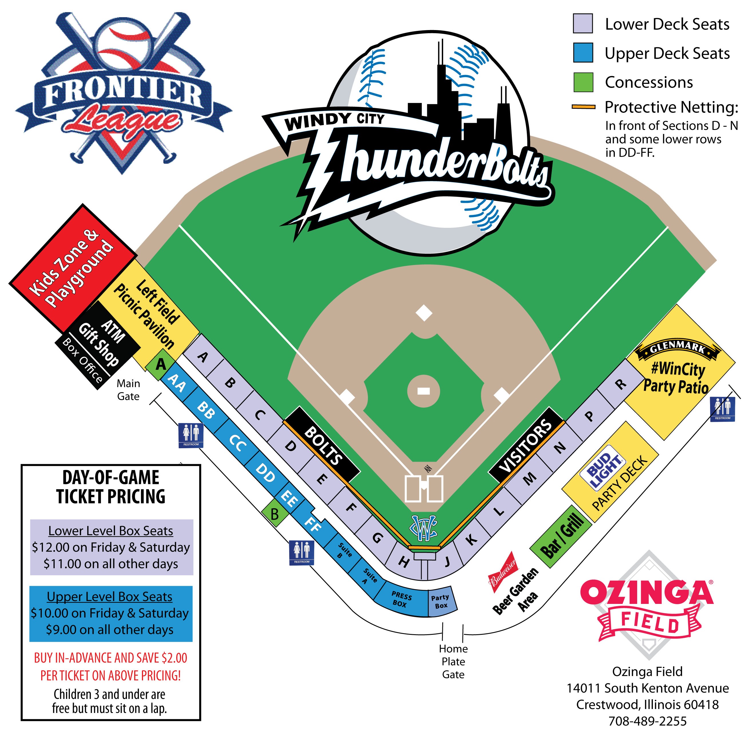 Windy City Thunderbolts  Seating Chart